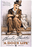 A Dog&#39;s Life Movie Charlie Chaplin Poster Print Prints