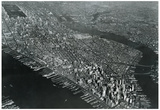 New York City Aerial Skyline Archival Photo Poster Print Posters