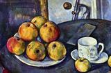 Paul Cezanne Still Life with a Bottle and Apple Cart Art Print Poster Masterprint