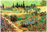 Vincent Van Gogh Flowering Garden with Path Art Print Poster Print