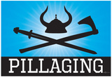 Pillaging Blue Poster Print Prints