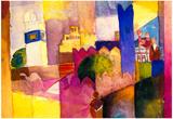 August Macke Kairouan Art Print Poster Posters
