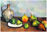 Paul Cezanne Still Life Jar and Fruit Art Print Poster Posters