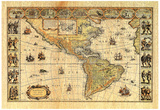 Old World Map Photo  2 Art Print POSTER lithograph Prints
