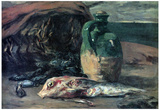 Paul Gauguin Still Life with Fish Art Print Poster Photo