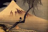 Katsushika Hokusai A Boy in front of Fujiama Art Poster Print Masterprint