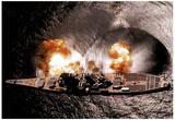 USS Iowa Battleship Firing Guns - Navy Prints