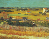 Vincent Van Gogh (Harvest at Arles) Art Poster Print Masterprint