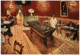 Vincent Van Gogh Night Cafe with Pool Table Art Print Poster Prints