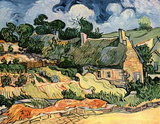 Vincent Van Gogh (Huts in Cordeville (Houses in Auvers, or thatched houses in Cordeville)) Masterprint