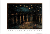 Vincent Van Gogh Night Stars Art Print POSTER gough Posters
