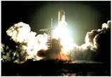 NASA Early Morning Space Shuttle Launch Art Print Poster Photo