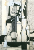 Juan Gris Still Life with Guitar Cubism Art Print Poster Prints