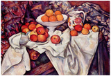 Paul Cezanne (Still life with apples and oranges) Art Poster Print Prints