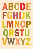 Alphabet (List) Art Poster Print Billeder