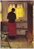 Anna Ancher Girl in the Kitchen [1] Art Print Poster Photo