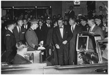 President John F Kennedy Getting into Car 1963 Archival Photo Poster Prints