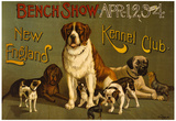 New Finland Kennel Club Vintage Ad Poster Print Posters