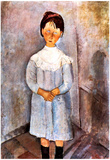 Amedeo Modigliani Girl in Blue Art Print Poster Poster