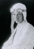 Amelia Earhart in White Archival Photo Poster Print Masterprint