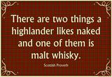 Scottish Proverb Things a Highlander Likes Naked Art Poster Print Masterprint
