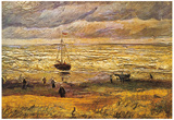 Vincent Van Gogh View of the Sea at Scheveningen Art Print Poster Prints