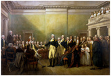 John Trumbull General George Washington Resigning His Commission Art Print Poster Photo
