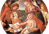 Sandro Botticelli Maria with Christ Child and Five Angels Art Print Poster Masterprint