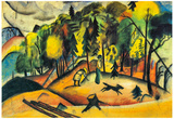 August Macke Forest Walk Art Print Poster Posters