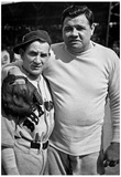 Babe Ruth and Rabbit Maranville Boston Braves 1935 Archival Photo Sports Poster Print Posters