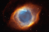 Iridescent Glory of Nearby Helix Nebula Space Photo Art Poster Print Masterprint