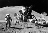 Moon Landing Salute Black White Archival Photo Poster Print Masterprint