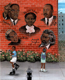 Black History African American MLK Jr. Malcolm X Art Poster Masterprint