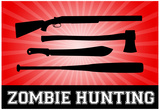 Zombie Hunting Red Sports Poster Print Photo