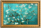 Van Gogh Almond Branches Poster with Gilded Faux Frame Border Affiches