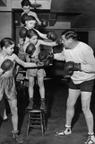 Babe Ruth Boxing Archival Photo Poster Print Masterprint