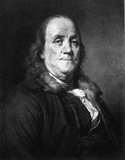 Benjamin Franklin (Portrait) Art Poster Print Masterprint