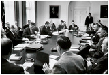 President John F Kennedy Cabinet Meeting Photo Print Poster Poster