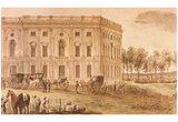 The Capitol Building (First Occupied by Congress, 1800) Art Poster Print Posters