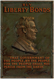 Buy Liberty Bonds Abraham Lincoln WWII War Propaganda Art Print Poster Posters