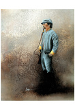 Army Confederate Soldier Art Print Poster Print