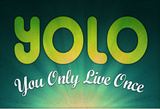 YOLO You Only Live Once Motivational Poster Masterprint