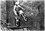 Motocross Racing Jump Archival Photo Poster Print