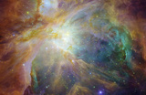 Spitzer and Hubble Create Colorful Masterpiece Space Photo Art Poster Print Masterprint
