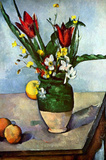 Paul Cezanne Still Life Tulips and Apples Art Print Poster Masterprint