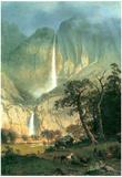 Albert Bierstadt Cho-Looke Yosemite Waterfall Art Print Poster Posters