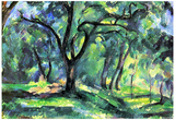 Paul Cezanne In the Woods Art Print Poster Posters
