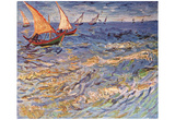 Vincent Van Gogh (The Sea at Saintes-Maries) Art Poster Print Poster