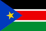 South Sudan Country National Flag Print Poster Masterprint
