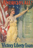 Americans All Victory Liberty Loan WWI War Propaganda Art Print Poster Masterprint